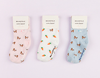 socks collaboration with BEANPOLE kids