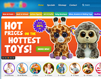 Website template design for a toy store