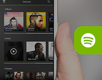 Spotify - iOS7 Redesign