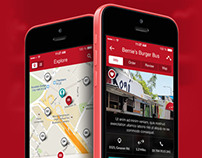HNGR - ios7 based Food Truck Locator Application