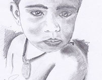 Pencil Portrait of a child