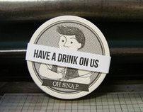 Drink Responsibly - Letterpressed Coasters