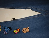 New jeans hand painted w/ Pooh and more