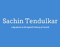 Sachin Tendulkar - A Timeline of Records