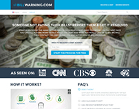Website design for BillWarning