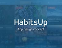 HabitsUp - iOS7 Design Concept
