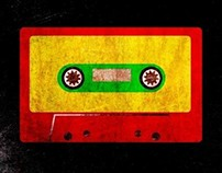 Grunge Reggae Cassette Tape - POSTER ON STEEL