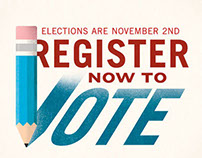 Register to Vote Campaign Poster Design