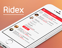 RIDEX | Ride sharing app