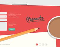 Website design for Peernote (Beta)