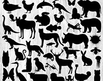 Animal Silhouette Illustration Bundle - 50 Images