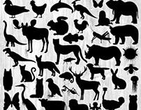 Animal Silhouette Illustration Bundle - 50 Images