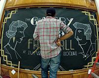 Typographic Chalk Mural : GATSBY