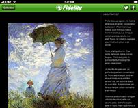 Fidelity Art Collection iPad App Proposal