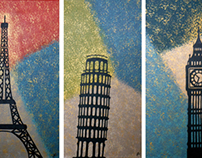 Around the World Triptych