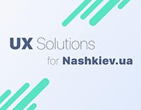 UX Solution for Nashkiev.ua