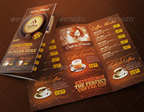 Trifold Brochure - Coffee Menu