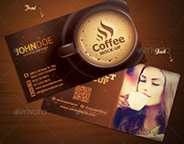 Coffee Business Card - Horizontal & Vertical