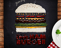 Stencils Design: Don't You Love Hamburger?!