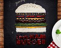 Stencils Design: Don't You Love Hamburger?!