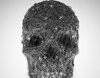 Razor Wire Skull