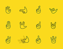 Hand Gesture Icons - The Noun Project