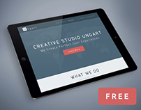 Ungart is a one-page free PSD template