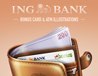 ING BANK - Bonus Card & ATM Illustrations