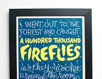 100,000 Fireflies Poster