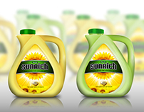 SunRich Oil Packges (3D work in Photoshop)