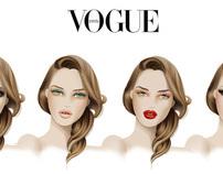 VOGUE  make ups