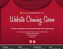 Website Construction Page - Bendigo Bank