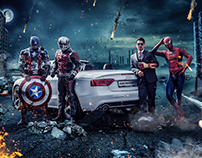 Avengers Key Visual for Audi