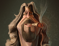 "Jeff Bridges ""The Dude"" Caricature"