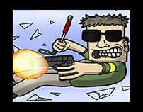 Action Centre Comic