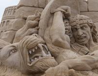 Sculpture Art in sand