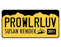 Prowler Hall of Fame License Plate Designs