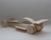 Wood race car push toy