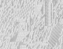 "3D Boxes, graphite on paper, 17"" x 17"""
