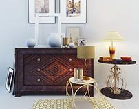 Decorative set. American Style