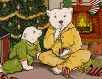 Polar Express Anthropomorphic Illustration