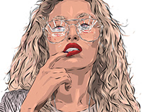 Adobe DRAW : Unknown portrait series - Vegas