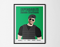 The Expendables movie poster illustrations