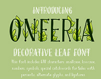 OnFeria - decorative leaf font + Color OTF