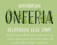 OnFeria - decorative leaf font + Color OTF