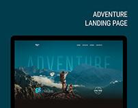 Adventure - Landing page