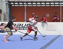 Ball Hockey Action Shots