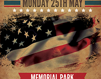 Memorial & Independence Day Flyer Template