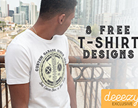 8 Free Vector T-shirt Designs 1