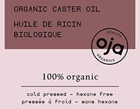 Oja Organics - Label + Logo